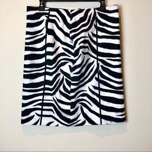 WHBM Zebra Pencil Skirt